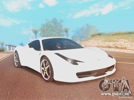 Ferrari 458 2010 für GTA San Andreas