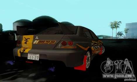 Mitsubishi Lancer Evolution IX für GTA San Andreas rechten Ansicht