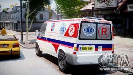 Ford Transit Polish Ambulance [ELS] pour GTA 4 Vue arrière de la gauche