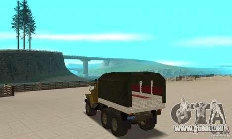 Ural 4320 für GTA San Andreas zurück linke Ansicht