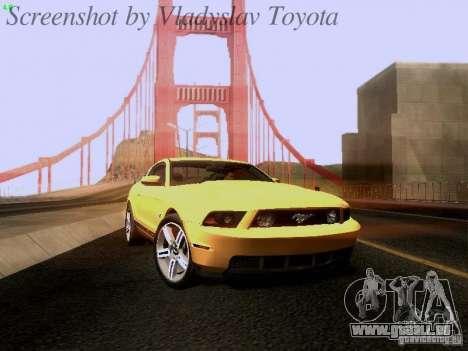 Ford Mustang GT 2011 für GTA San Andreas zurück linke Ansicht