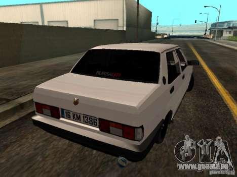 Tofas Sahin DRIFT pour GTA San Andreas vue de droite