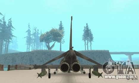 F-4E Phantom II für GTA San Andreas Rückansicht