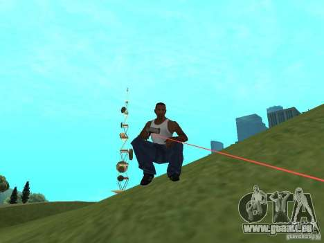 Laser Weapon Pack für GTA San Andreas zweiten Screenshot
