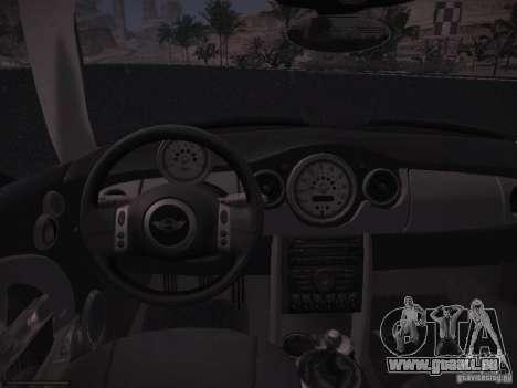 Mini Cooper S für GTA San Andreas Rückansicht