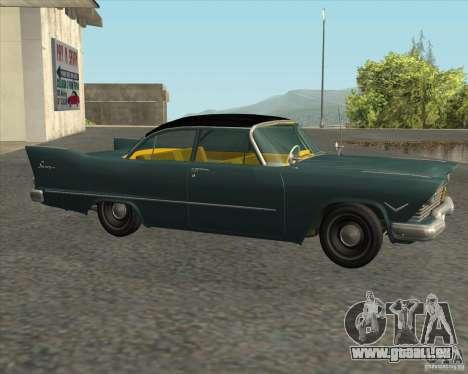 Plymouth Savoy 1957 pour GTA San Andreas sur la vue arrière gauche