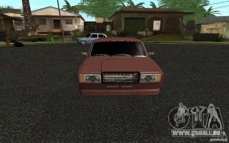 VAZ 2107 voiture Tuning pour GTA San Andreas laissé vue