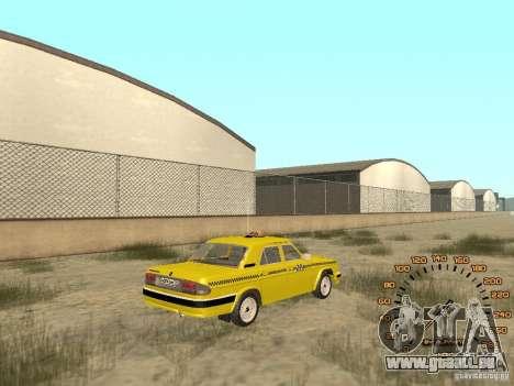 GAZ-31105 taxi pour GTA San Andreas laissé vue