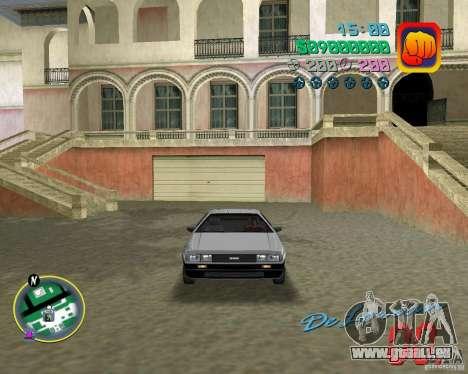 DeLorean DMC 12 pour GTA Vice City vue arrière