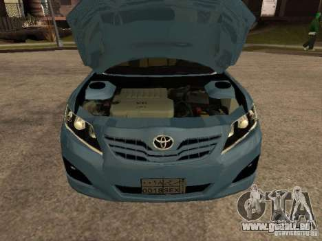 Toyota Camry pour GTA San Andreas vue de droite