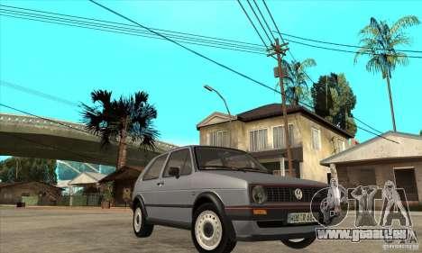 Volkswagen Golf 2 GTI 1984 pour GTA San Andreas vue arrière