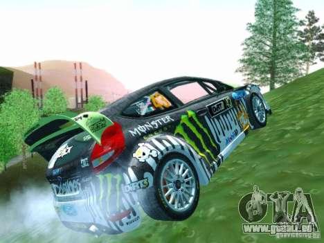 Ford Fiesta Ken Block Dirt 3 pour GTA San Andreas vue intérieure