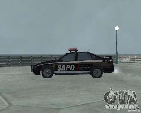 Cop Car Chevrolet pour GTA San Andreas laissé vue