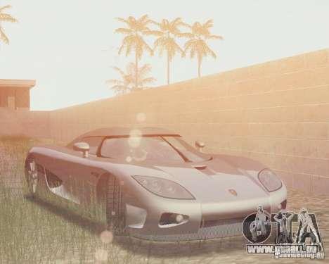 Koenigsegg CCX 2006 v2.0.0 für GTA San Andreas Unteransicht