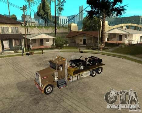 Kenworth W900 SALVAGE TRUCK pour GTA San Andreas vue de côté