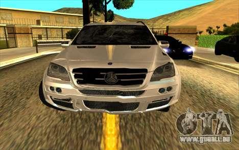 Mercedes-Benz ML63 AMG W165 Brabus pour GTA San Andreas moteur