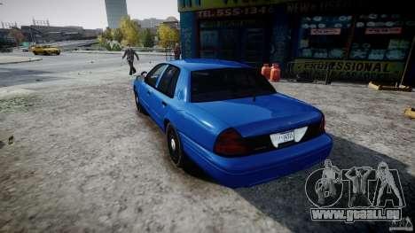 Ford Crown Victoria Detective v4.7 [ELS] pour GTA 4 Vue arrière de la gauche