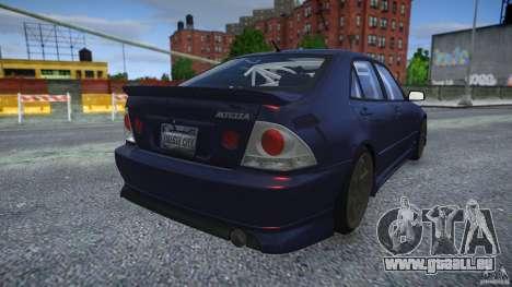 Toyota Altezza pour GTA 4 Vue arrière