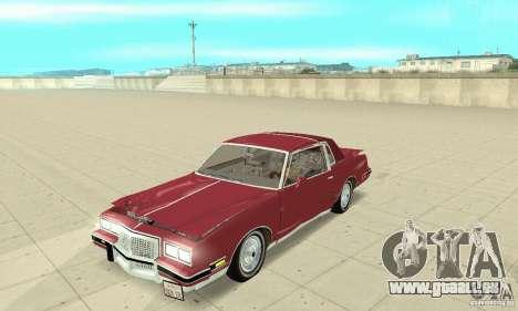 Pontiac Grand Prix 1985 pour GTA San Andreas vue de côté