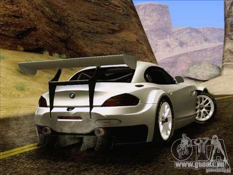 BMW Z4 E89 GT3 2010 Final pour GTA San Andreas vue intérieure
