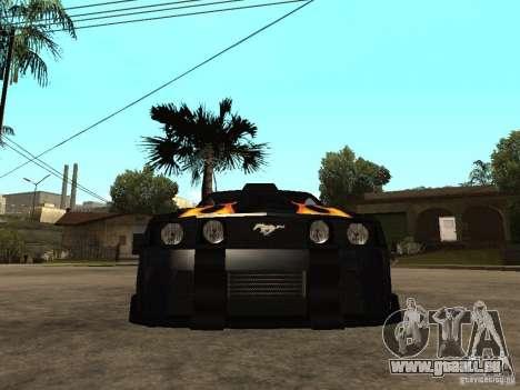 Ford Mustang GT Razor NFS MW für GTA San Andreas rechten Ansicht