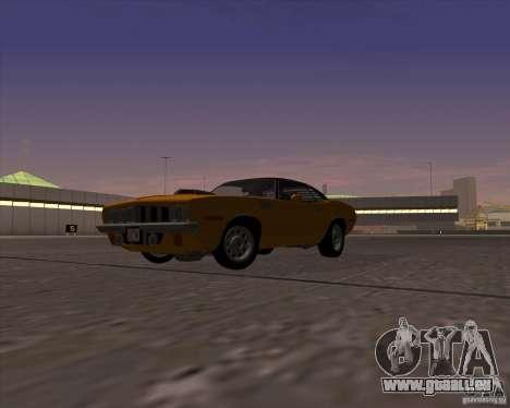 Plymouth Barracuda pour GTA San Andreas vue de droite