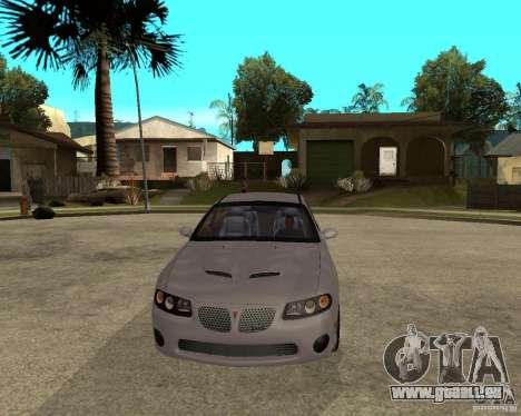 2005 Pontiac GTO für GTA San Andreas Rückansicht