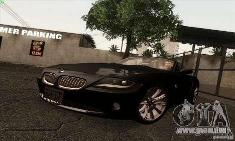 BMW Z4 pour GTA San Andreas laissé vue