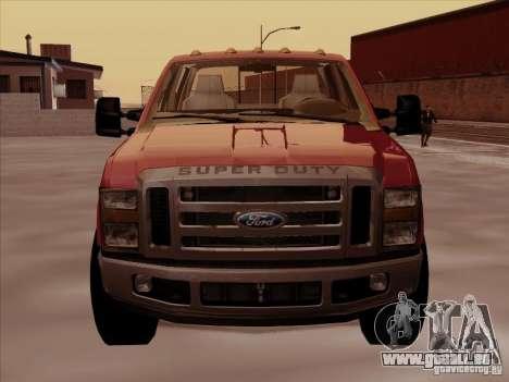 Ford  F350 Super Duty pour GTA San Andreas laissé vue