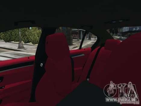 BMW M5 F10 2012 Aige-edit pour GTA 4 Vue arrière