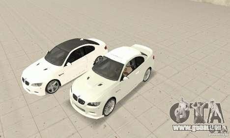 BMW M3 2008 pour GTA San Andreas laissé vue