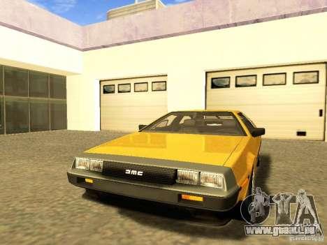 DeLorean DMC-12 V8 pour GTA San Andreas vue de côté