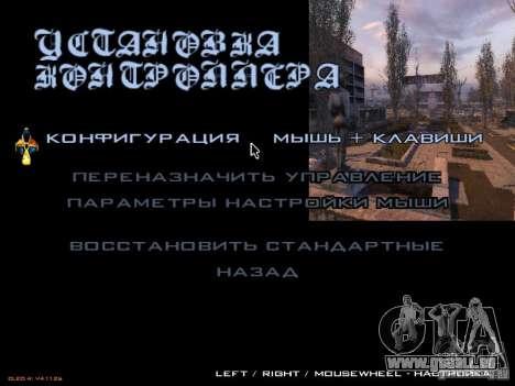 Wichtigsten Menüstil Stalker für GTA San Andreas dritten Screenshot