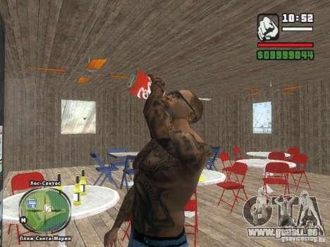 Nouvelle plage bar Vérone pour GTA San Andreas sixième écran