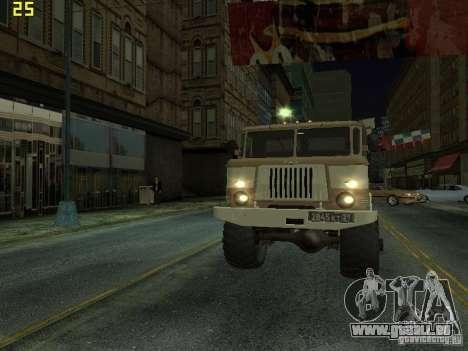 GAZ 66 Parade pour GTA San Andreas vue intérieure