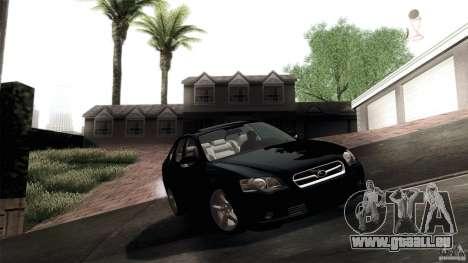 Subaru Legacy B4 3.0R specB pour GTA San Andreas vue intérieure