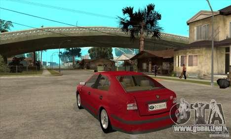 Skoda Octavia für GTA San Andreas zurück linke Ansicht