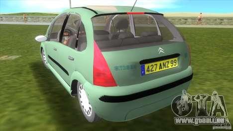 Citroen C3 für GTA Vice City linke Ansicht