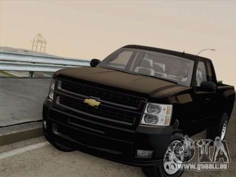 Chevrolet Silverado 2500HD 2013 pour GTA San Andreas laissé vue