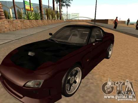 Mazda RX-7 für GTA San Andreas zurück linke Ansicht
