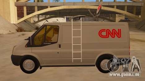 Ford Transit CNN pour GTA San Andreas laissé vue