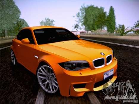 BMW 1M E82 Coupe pour GTA San Andreas sur la vue arrière gauche