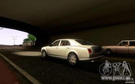 Bentley Mulsanne 2010 v1.0 pour GTA San Andreas sur la vue arrière gauche