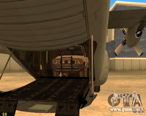 C-130 hercules für GTA San Andreas obere Ansicht
