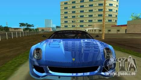 Ferrari 599XX pour une vue GTA Vice City de la gauche