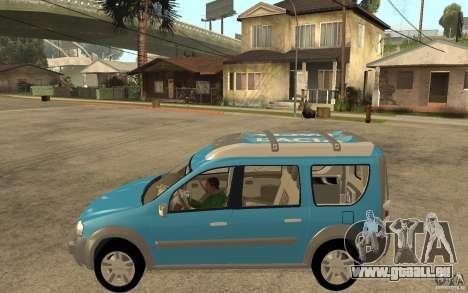 Dacia Logan Steppe Concept für GTA San Andreas linke Ansicht