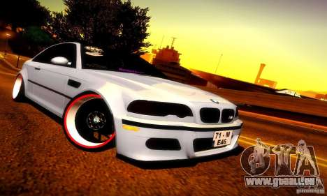 BMW M3 JDM Tuning pour GTA San Andreas laissé vue