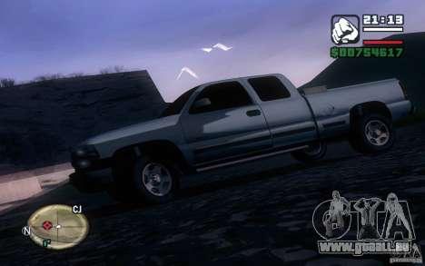 Chevrolet Silverado 2000 pour GTA San Andreas laissé vue