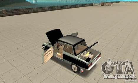 ZAZ 968 m ver 1.0 pour GTA San Andreas vue intérieure