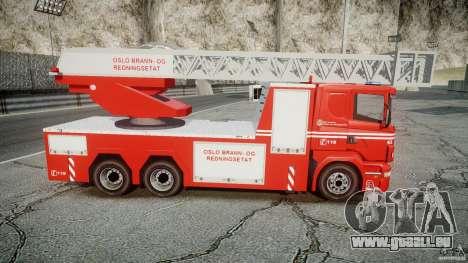 Scania Fire Ladder v1.1 Emerglights blue-red ELS pour GTA 4 est un côté